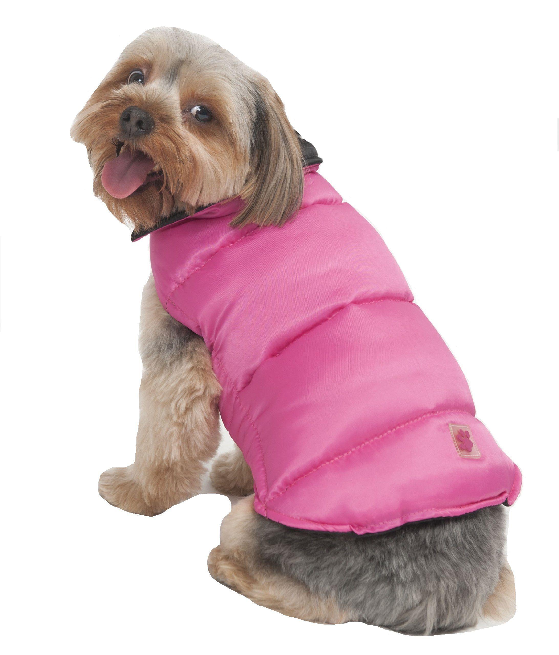 Fashion Pet Reversible Arctic Dog Coat Large Pink Click Image