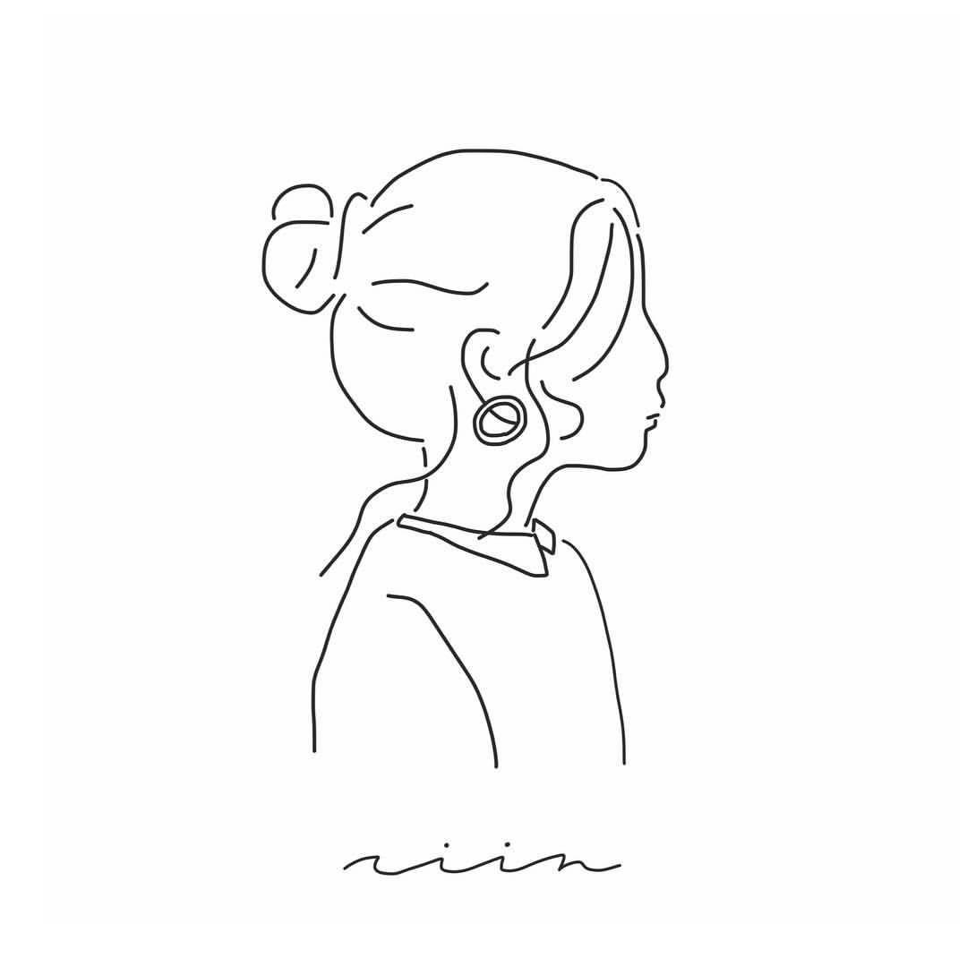 Yuribo イラストさんはinstagramを利用しています Good Morning ハンドメイド ショップさんからのオーダーで ピアスをした女の子です 𖤘 My Hash Tag イラスト 線画 女の子 かわいいスケッチ