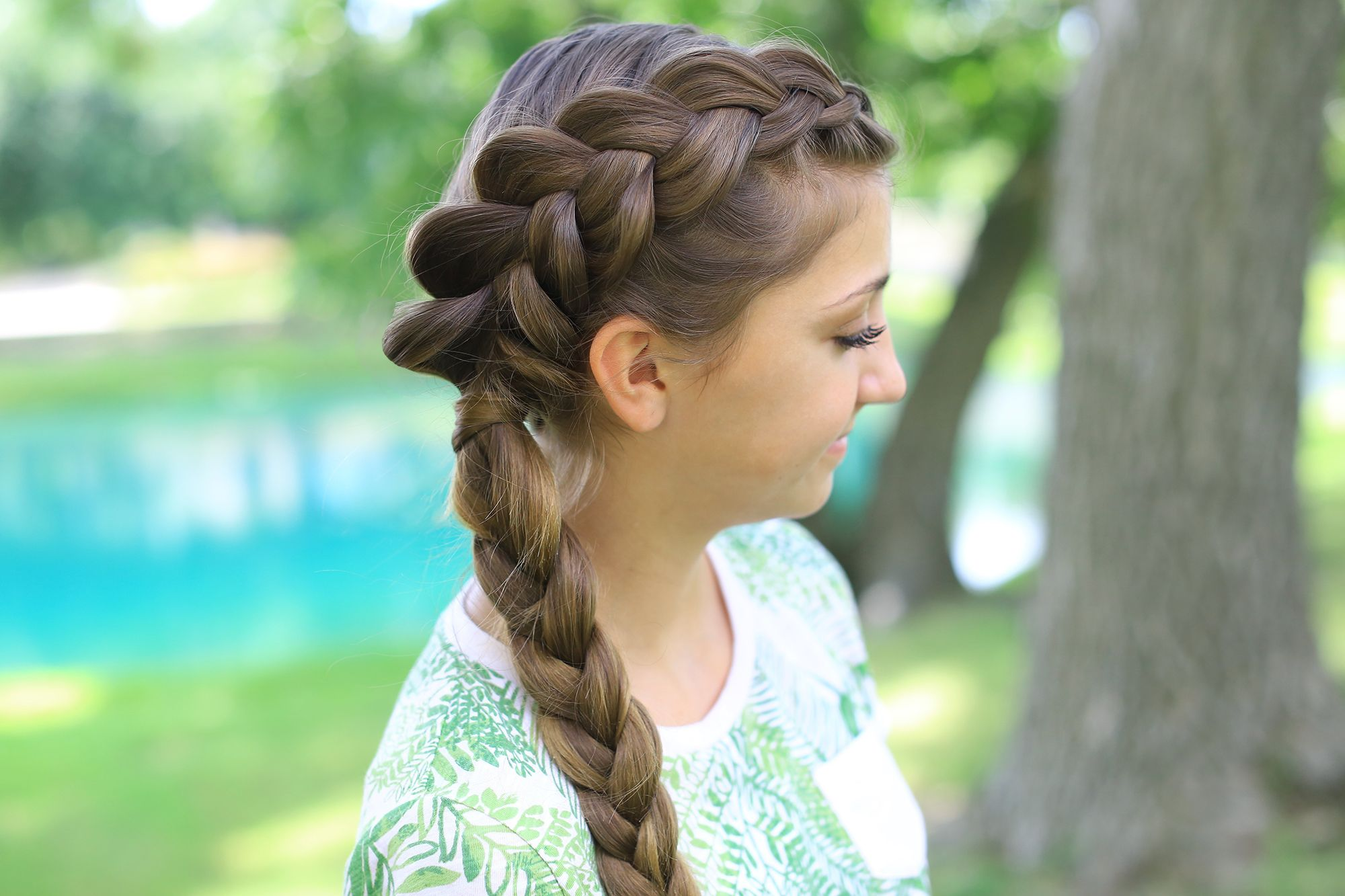 side dutch braid combo   cute girls hairstyles   glamour