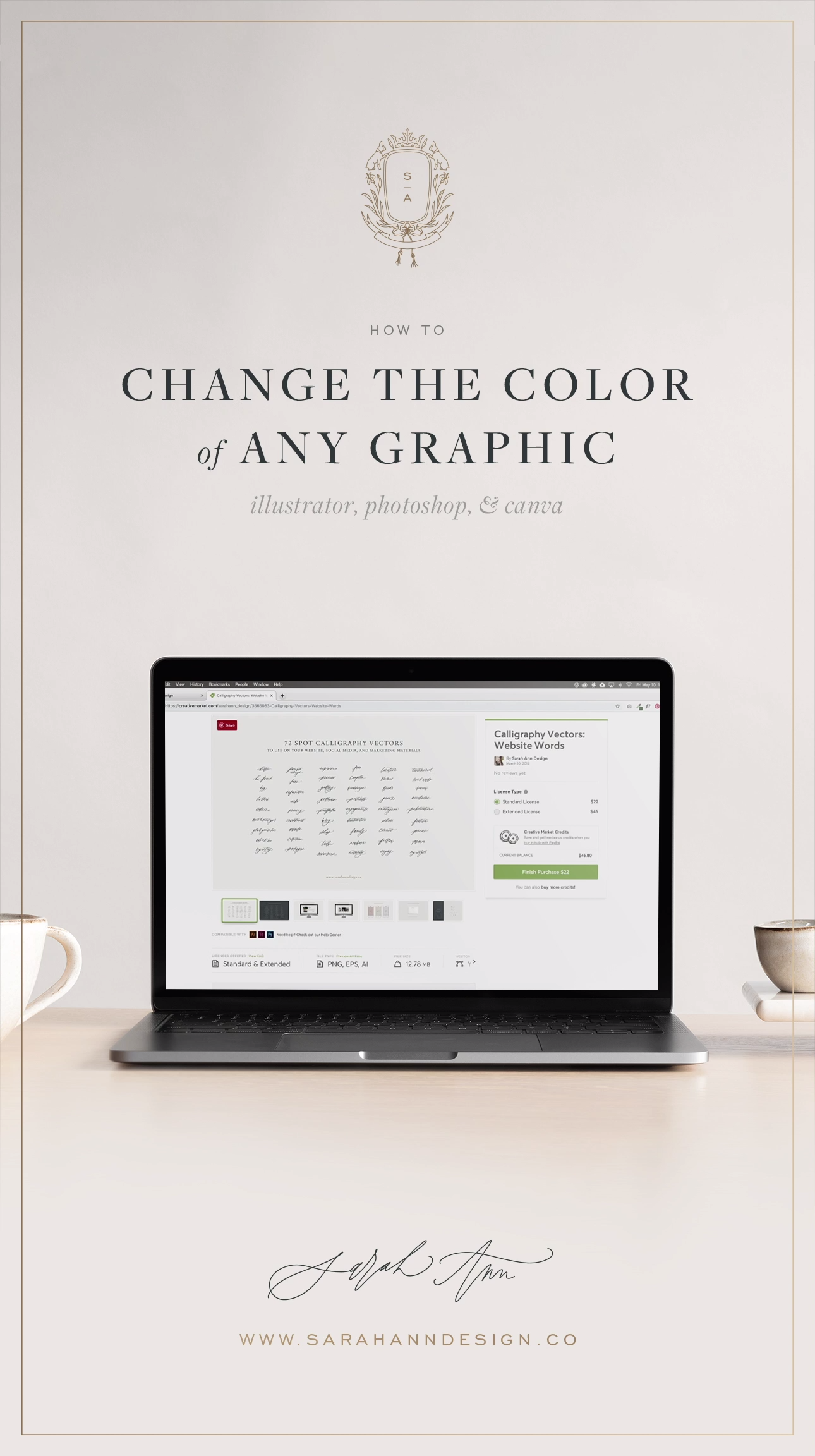 How To Change The Color Of A Graphic Illustrator Photoshop Or Canva Video Video Photoshop Photoshop Video Tutorials Photoshop For Photographers