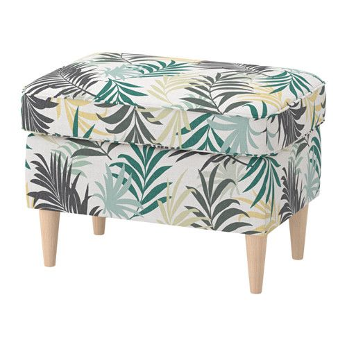 Phenomenal Ottoman Strandmon Gillhov Multicolor Adams Square Fabric Ocoug Best Dining Table And Chair Ideas Images Ocougorg