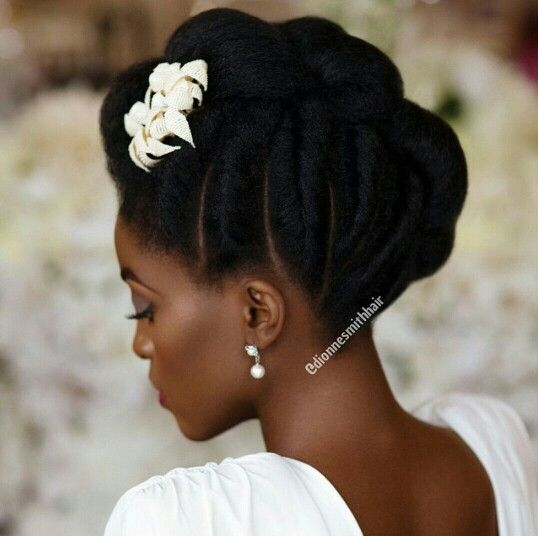 Wedding afro hairstyle 3 Bridal hair inspiration