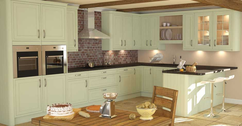 Framed sage timber wren kitchens pinterest sage for Traditional kitchen extensions