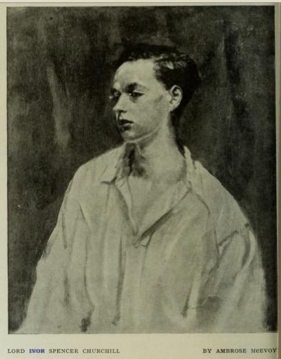 """Lord Ivor Spencer-Churchill by artist Ambrose McEvoy was featured in a critique of the artist's work published in """"The Studio: an Illustrated Magazine of Fine & Applied Art,"""" 15 Feb 1917, Vol. 70, No. 287."""