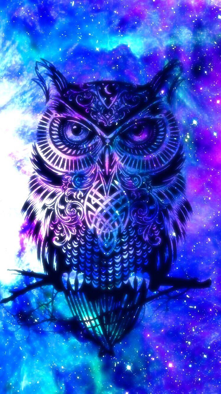 Owl galaxy cute | Owl in 2019 | Owl wallpaper, Galaxy Wallpaper, Cute owls wallpaper