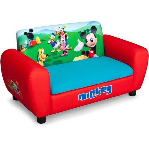 Disney Mickey Mouse Sofa With Storage Toddler Walmart Com