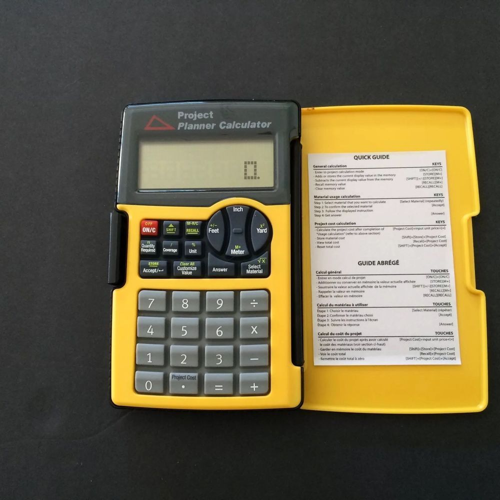 sentry contractor calculator with cover project planner building