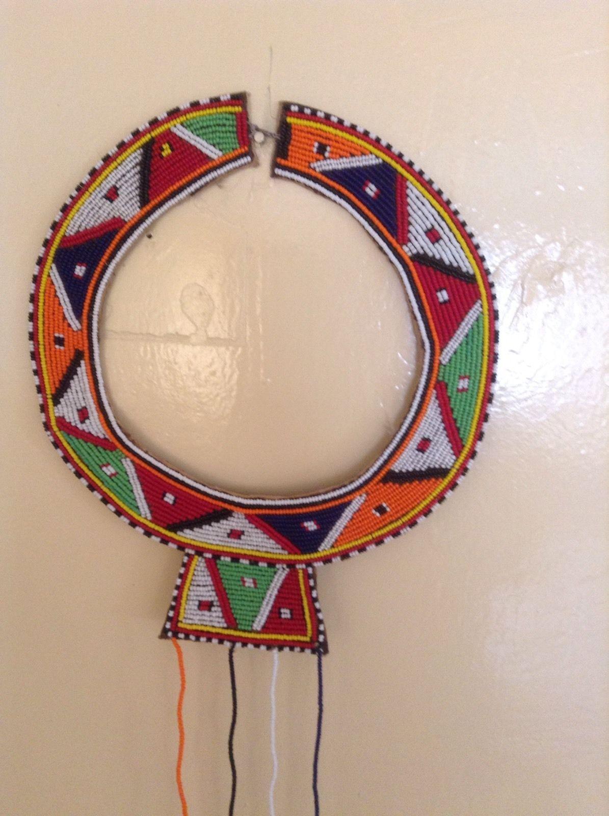 African-Arena Handmade Pokot Women Beads Antique Blue Large Beaded ...