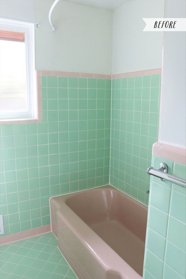 Vintage Bathroom Inspiration My Mint And Pink Bathroom Vintage Bathrooms Bathroom Interior Bathroom Colors