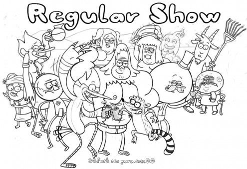 Free Printable Cartoon Network Regularshow Coloring Pages For