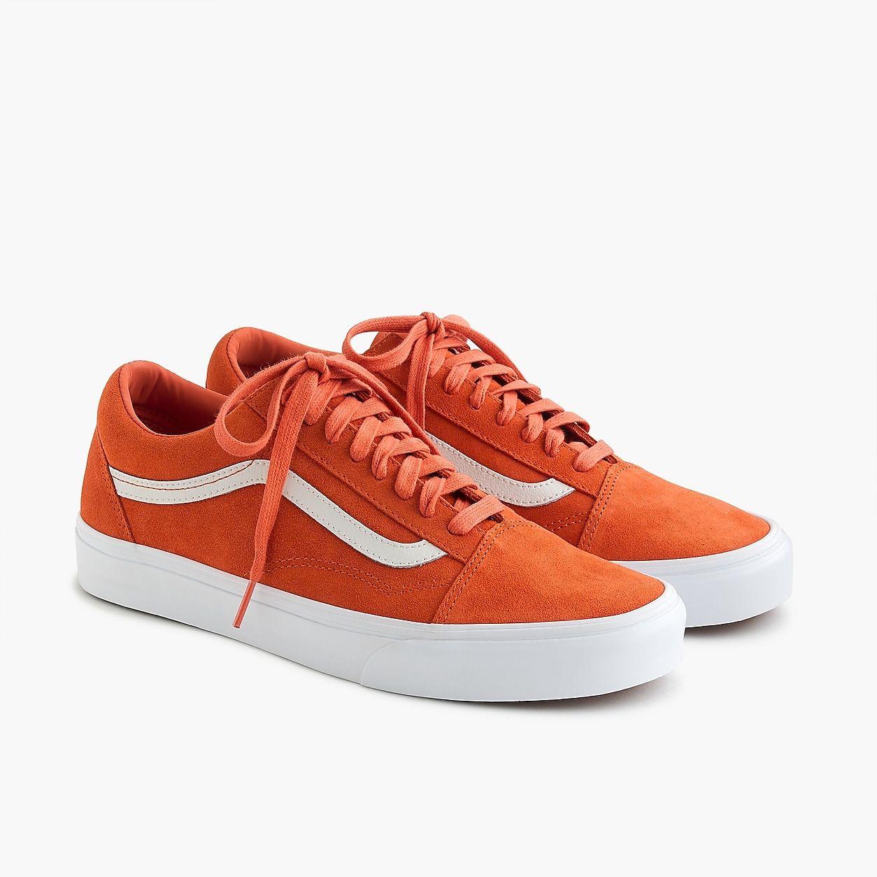Vans Old Skool Sneakers In Orange Suede | Orange vans, Vans