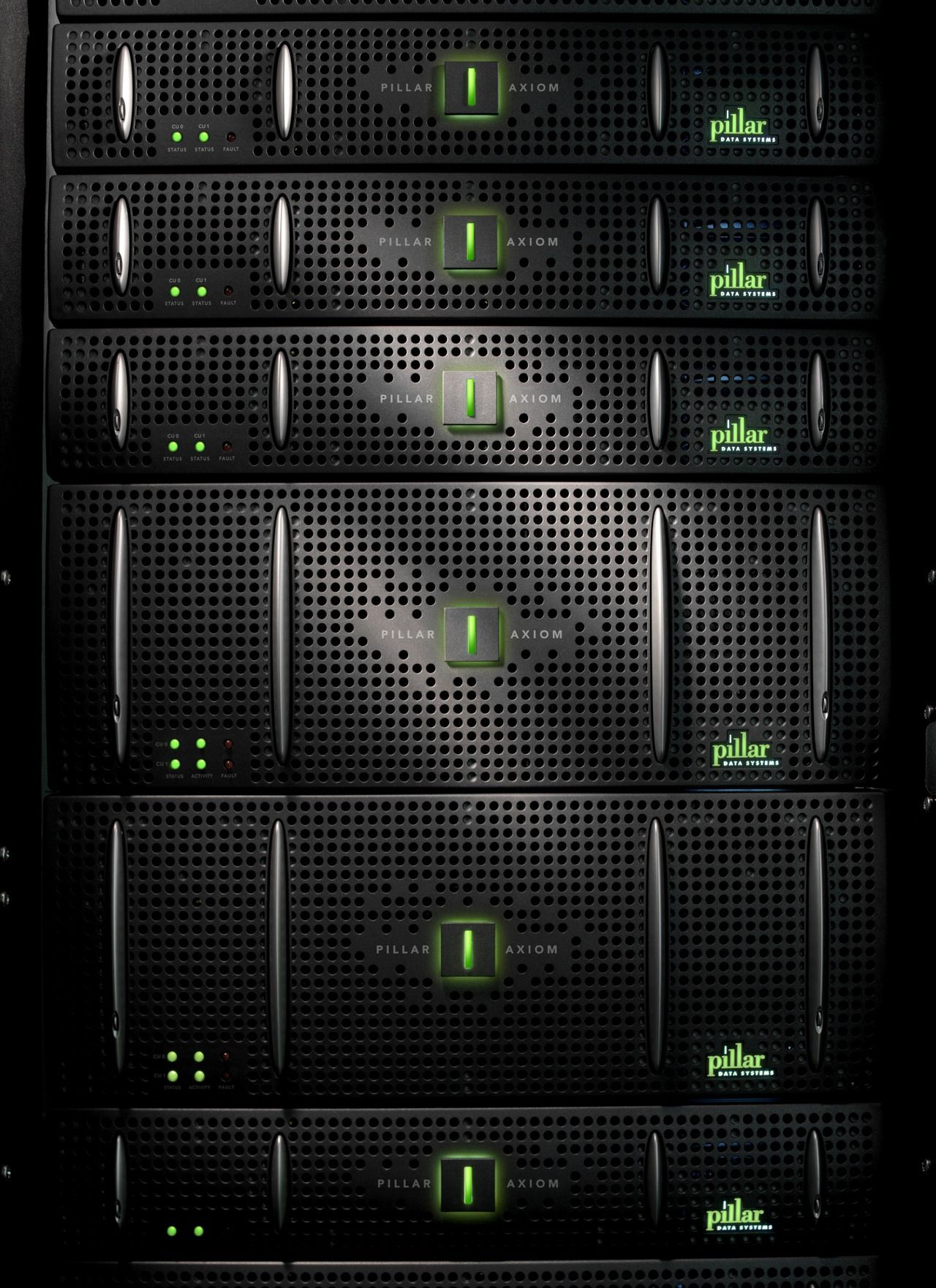 Pillar Axiom San A Modular Structure That Allows You To Scale Up To 1 6pb In Storage The Ssd Version With 13 X 200g Data Center Design Server Cabinet Server