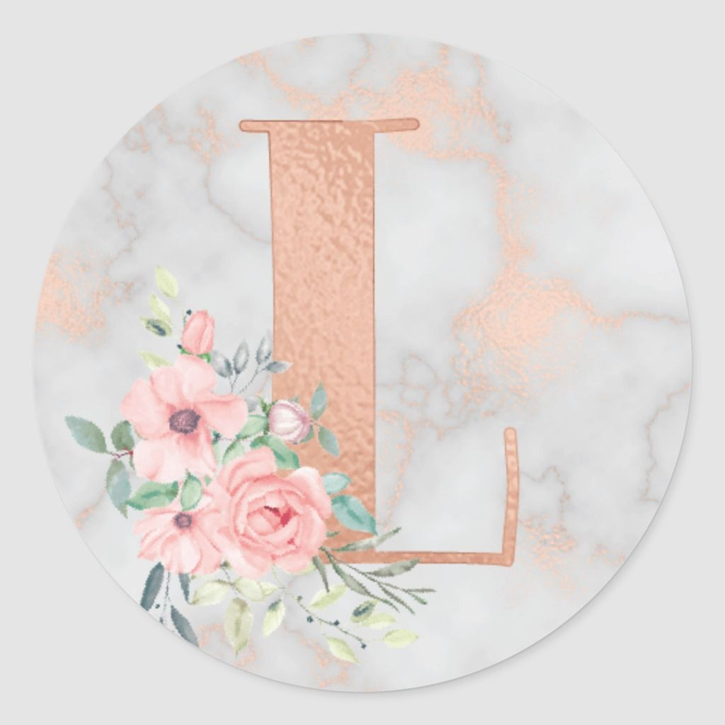 Rose Gold Marble Pink Flowers Monogram Letter L Classic Round Sticker Zazzle Com In 2021 Rose Gold Marble Monogram Letters Rose Gold Wallpaper Glitter rose gold k wallpaper