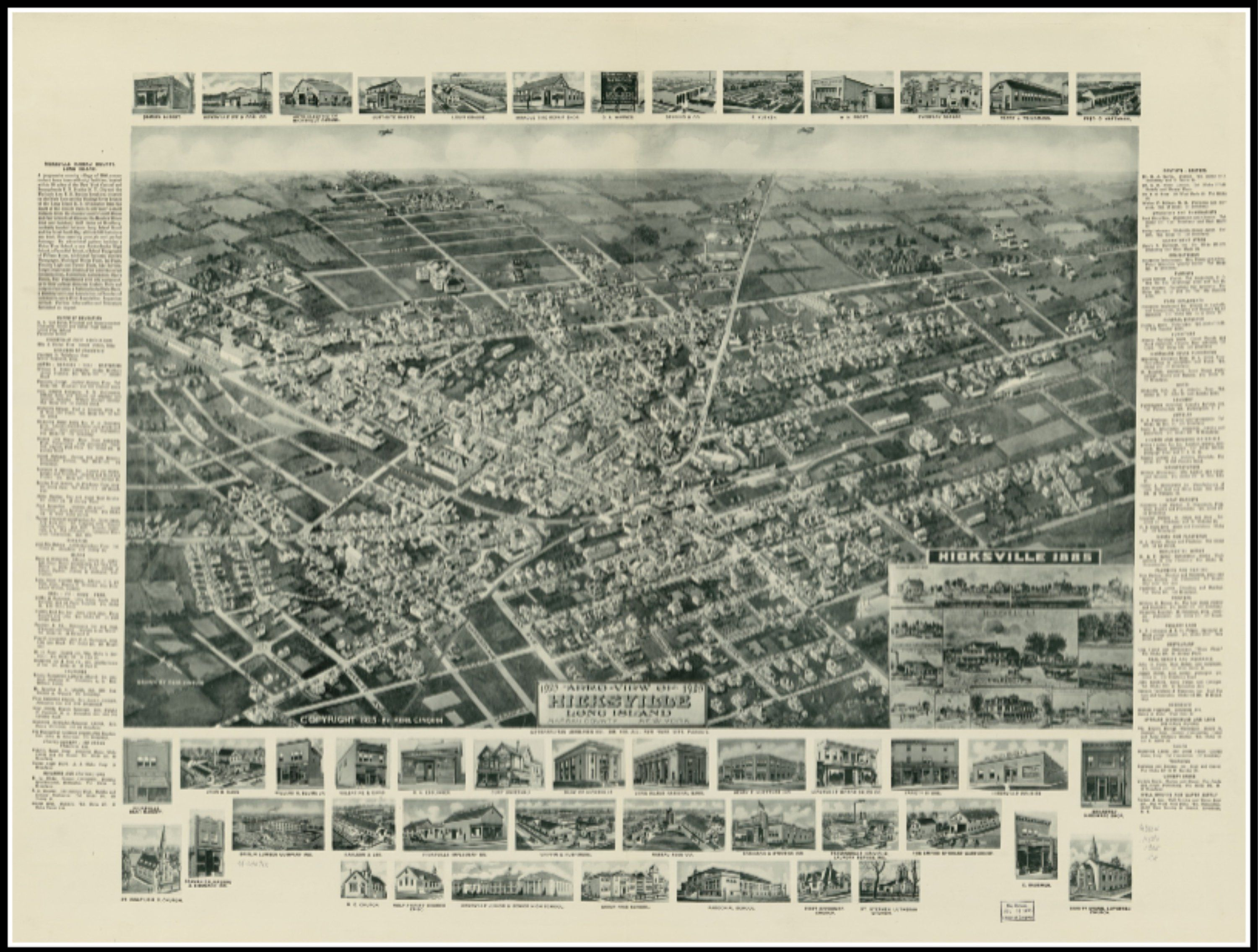 1873 panorama of Manhattan /& New York City art print