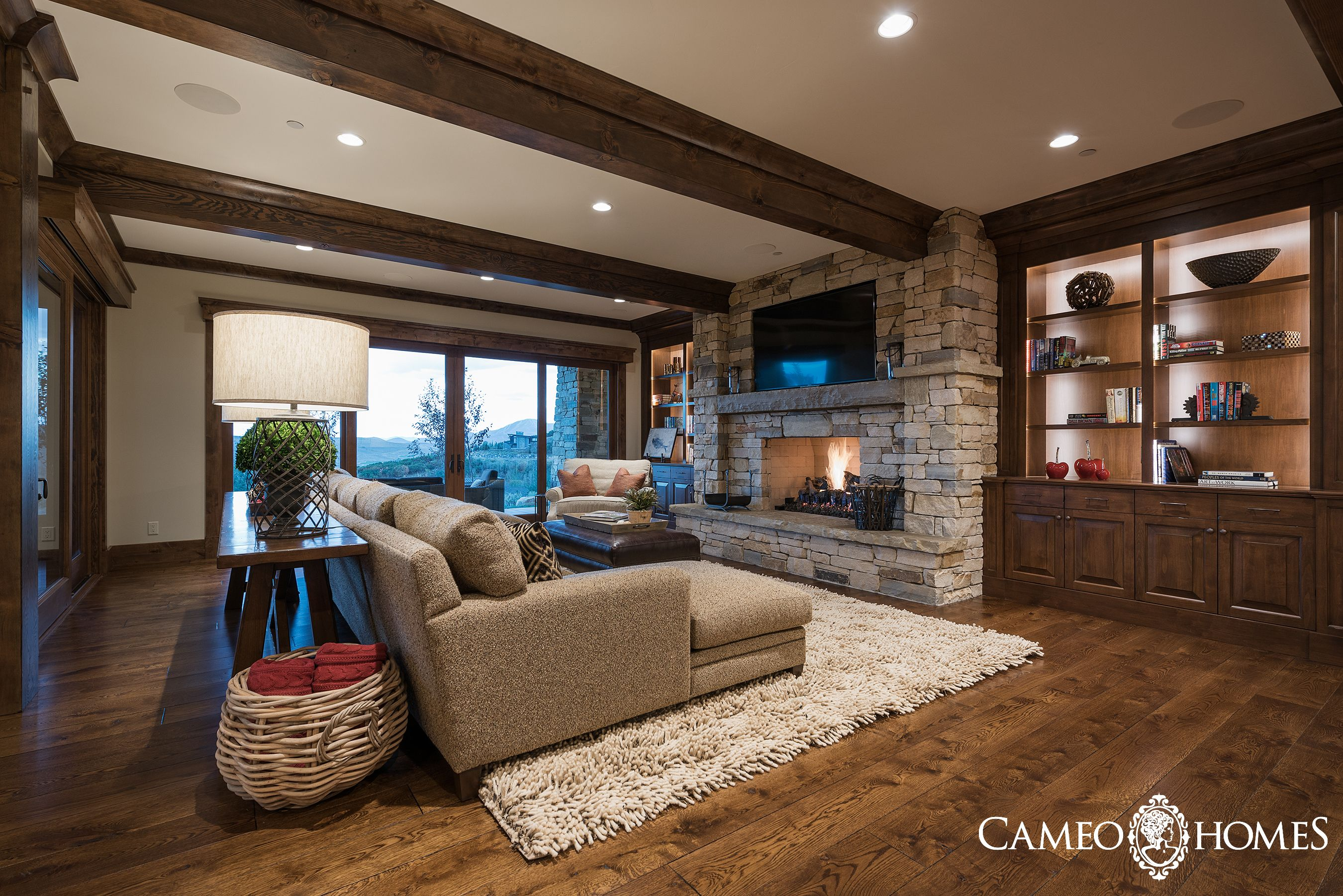 Basement Living Room In Promontory Park City Utah By Cameo Homes Inc Luxury