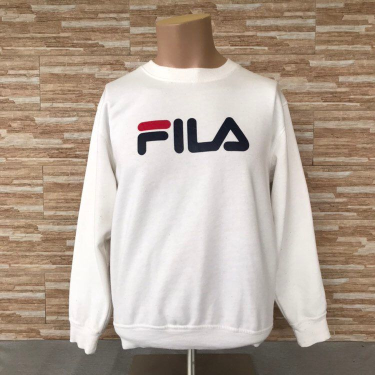 7a99e065e403 Excited to share the latest addition to my  etsy shop  Vintage 90 s Fila  Big Spellout Printed Sweatshirts Crewneck Fila Jumpers White Colours  Pullover Large ...