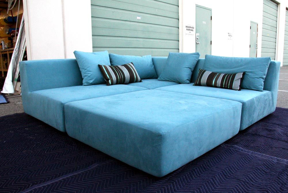 Furniture : Blue Sectional Sofas Furniture Design Ideas with Dark Blue Carpet ~ HeimDecor