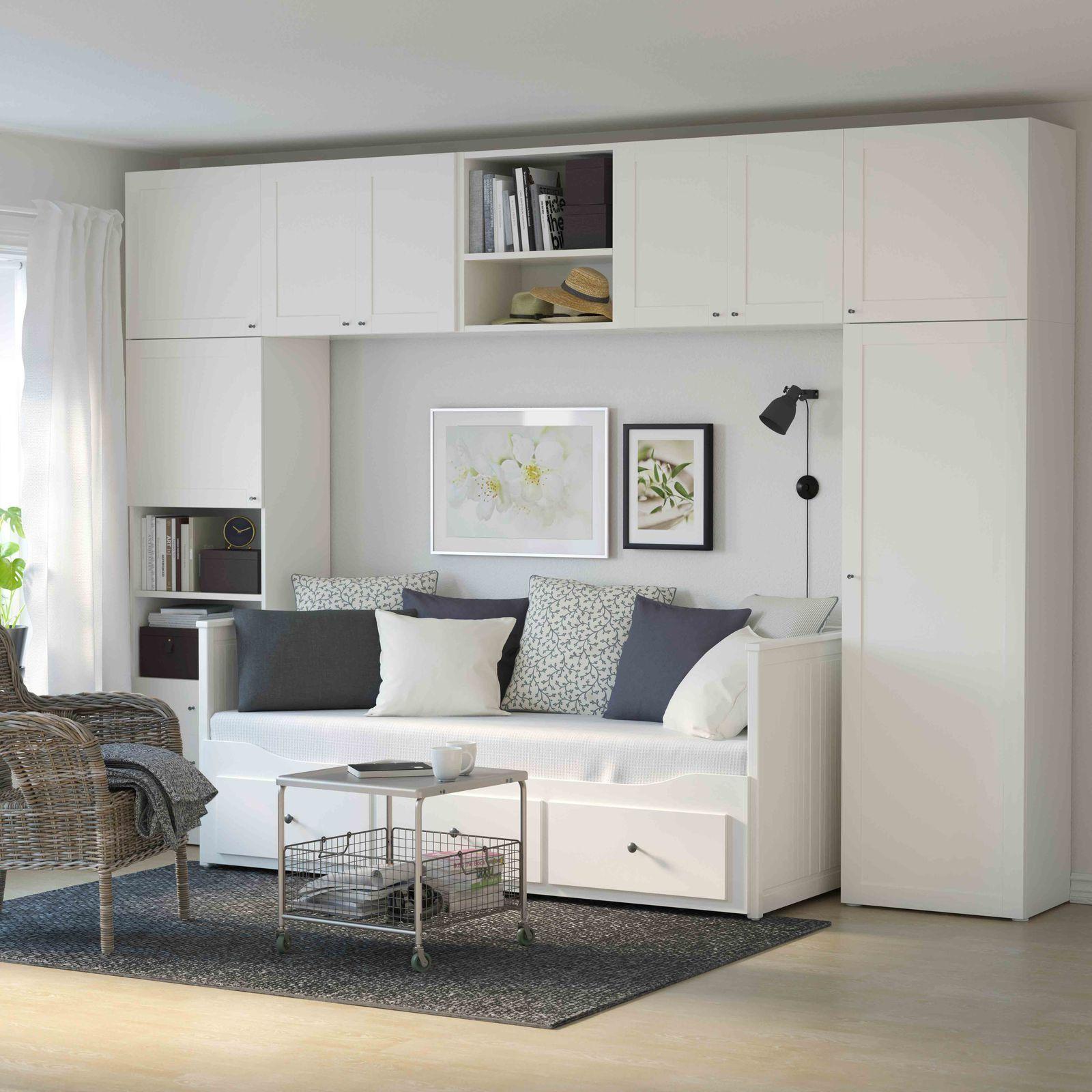 ikea hemnes living room wall bridging shelf units check