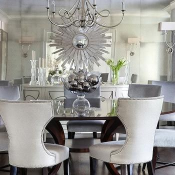 Floor To Ceiling Mirror Contemporary Dining Room Morgan Cool Mirror In The Dining Room Design Inspiration