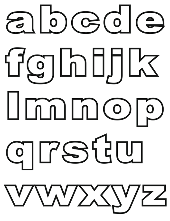 alphabet coloring pages Lowercase