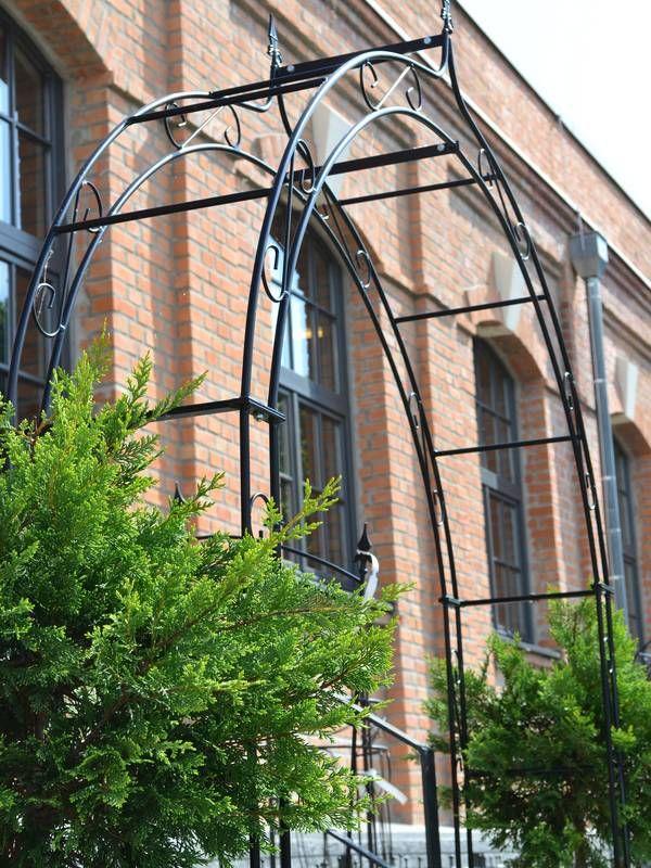 Rosenbogen Modern rosenbogen rosenbogen b 2 00 m mit lilie spitze massiveisen