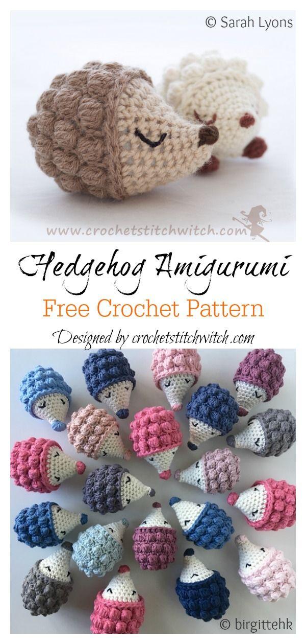 8 Crochet Hedgehog Amigurumi Free Patterns