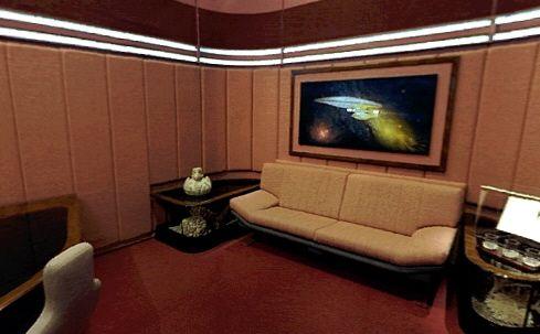 Star Trek Tng Painting In Picard S Ready Room Wars