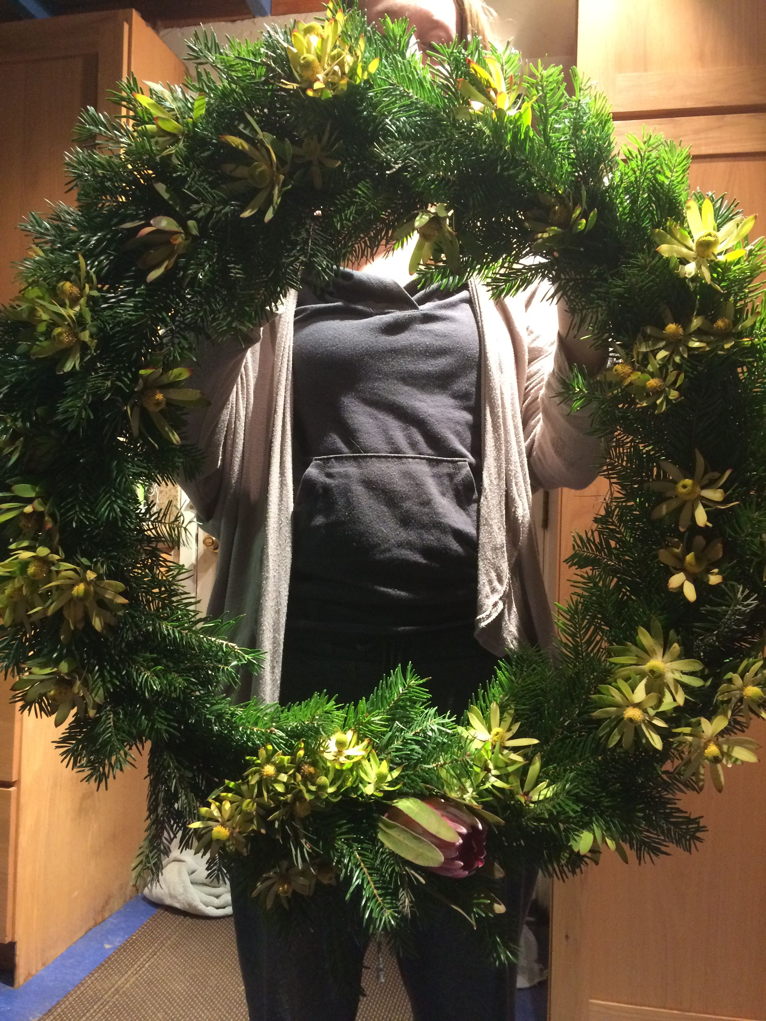 Christmas wreath made from the tree and garden 🎄