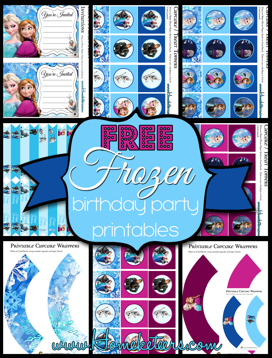Free Frozen Birthday Party Printables Frozen Birthday Party Printables Birthday Party Printables Free Frozen Themed Birthday Party