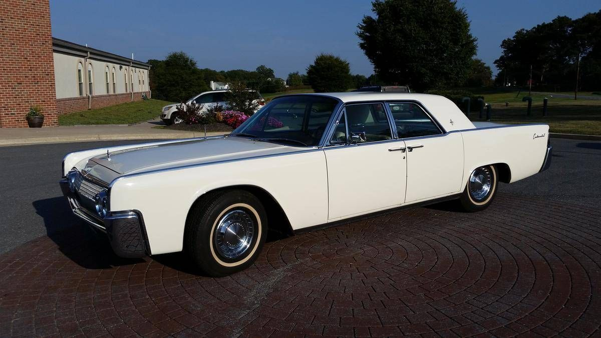 1963 Lincoln Continental in white