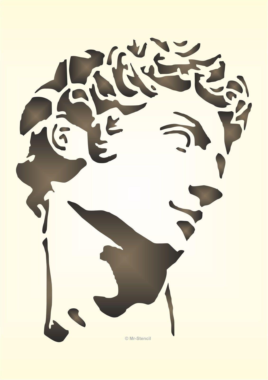 Details zu Maler Wandschablone Wandschablonen Schablone Michelangelo ...