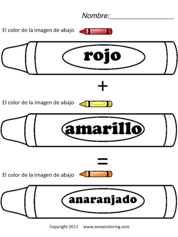 spanish worksheets for kindergarten printable spanish colors worksheet 1st yrs spanish. Black Bedroom Furniture Sets. Home Design Ideas