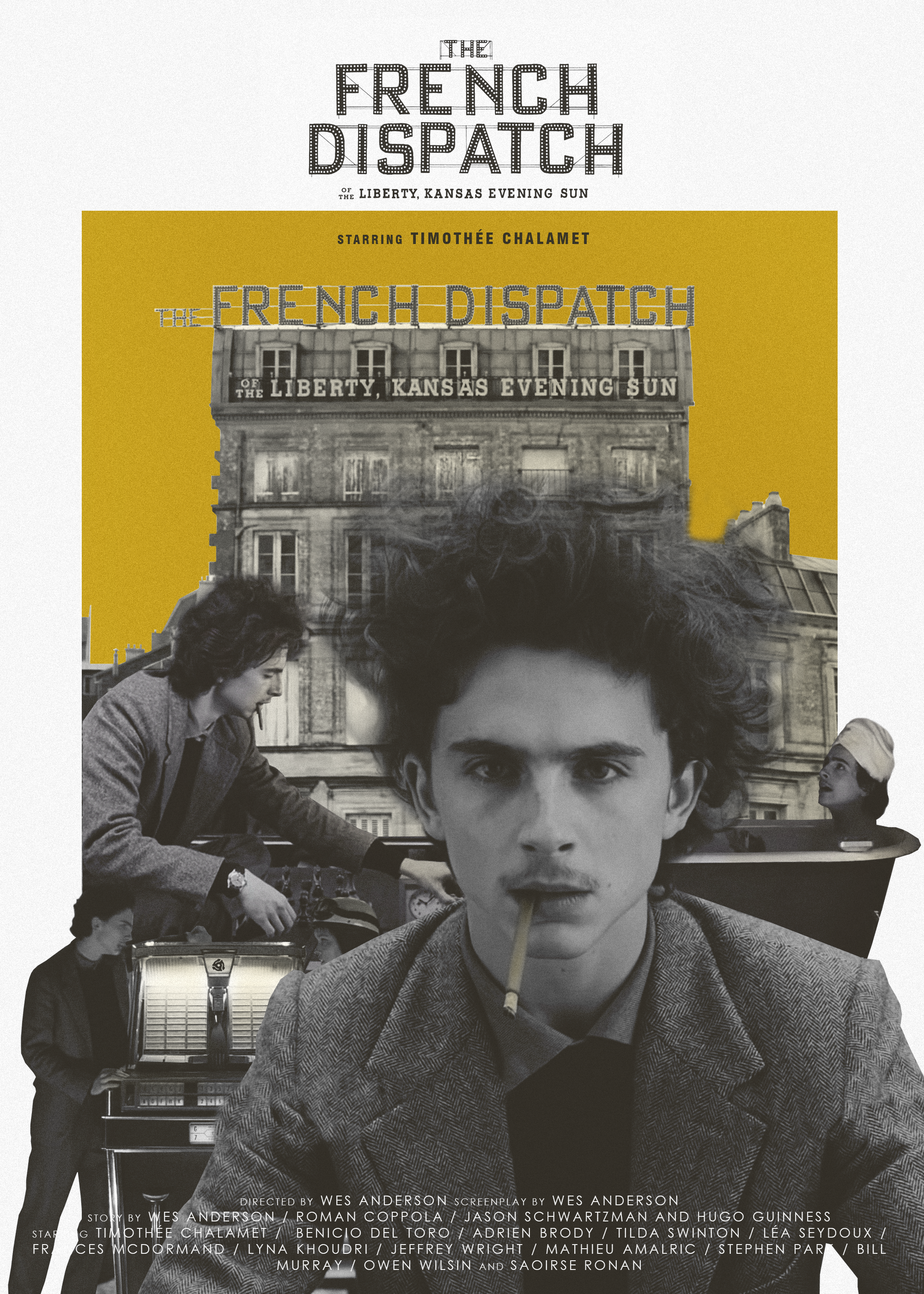 The French Dispatch - Movie poster | Timothee chalamet, Movie posters, Wes  anderson films