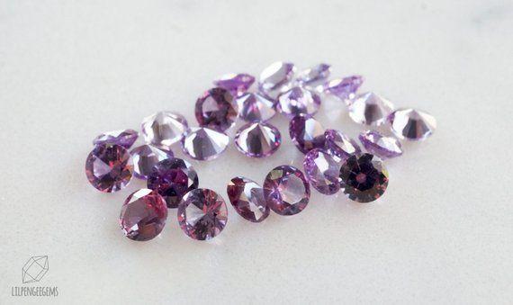 3d0c69bf14a65 6mm lab Alexandrite round gemstones. violet purple green color ...