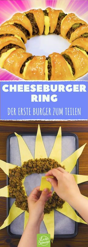 Leckerer Cheeseburger Ring