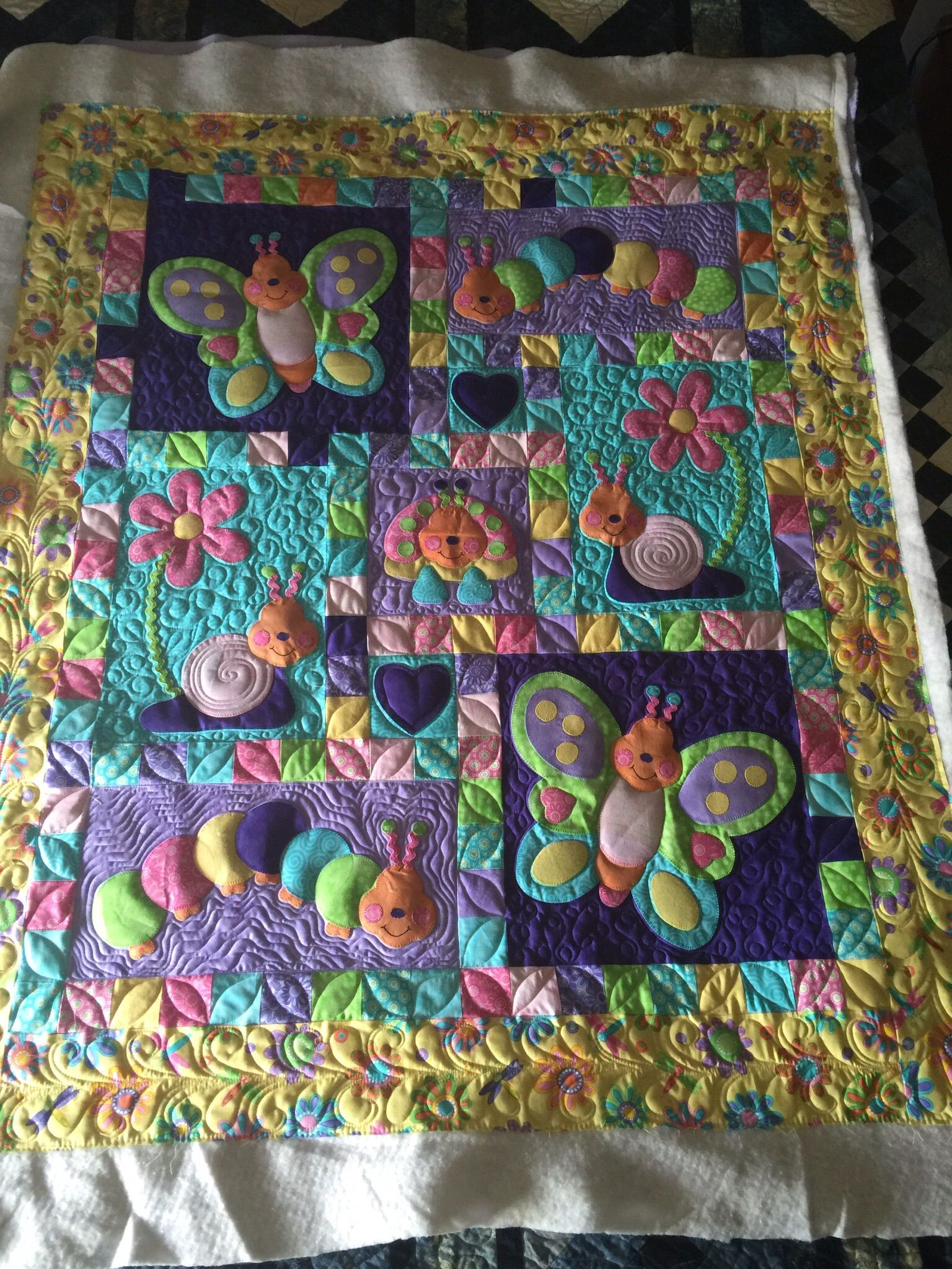 Bugsy Quult Baby quilts, Quilts, Longarm quilting