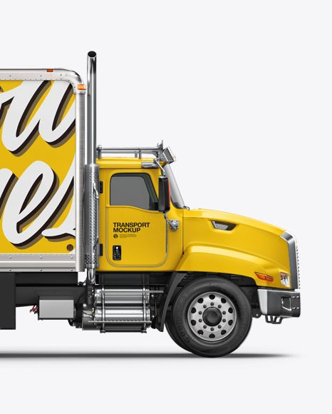 Download Free Mockups Box Truck Mockup - Side View Free PSD Mockups ...