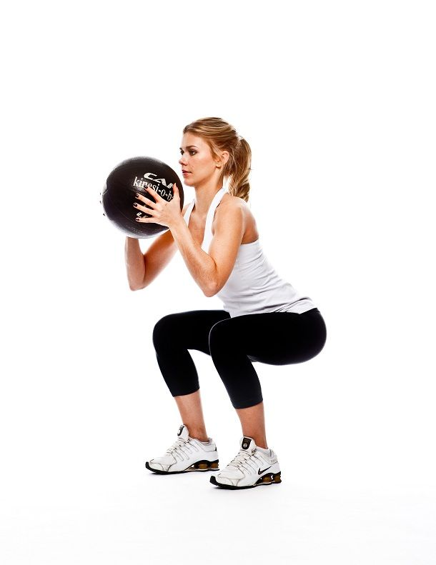Medicine ball/ squats | Health & Fitness | Medicine ball, Squat
