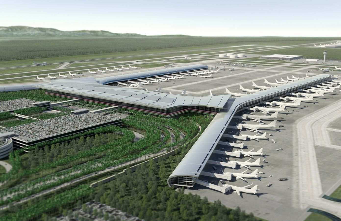 Guayaquil Airport Illustration By Leif Peterson Design Airports As They May Become