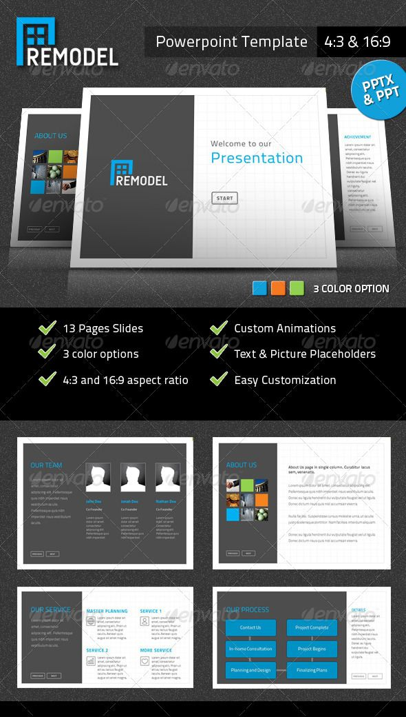 Remodel Powerpoint Presentation Template  Powerpoint Presentation