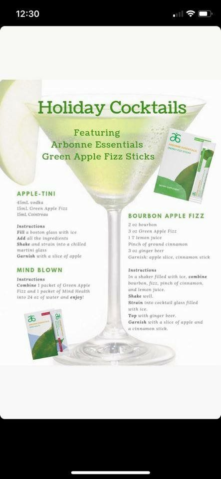 Arbonne Green Apple Fizz With Alcohol In 2019 Fizz