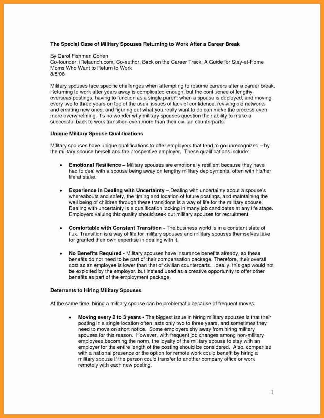 Reentering the workforce resume examples awesome 11 12