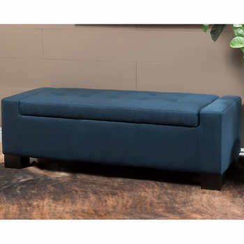 Ravello Blue Fabric Storage Ottoman Fabric Storage Ottoman