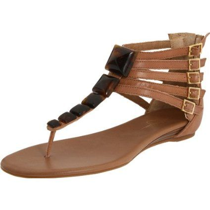 Jessica Simpson Women`s Demeter Flat Sandal With Jewels,Light Taupe Chloe Leather,7 M US