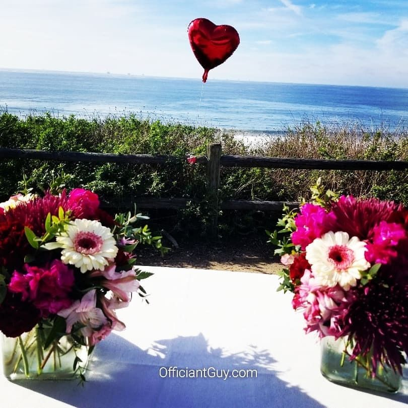 It was a day yesterday for a Carpenteria wedding