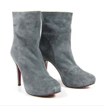 Christian Louboutin Miss Clichy Booties 140mm Gray