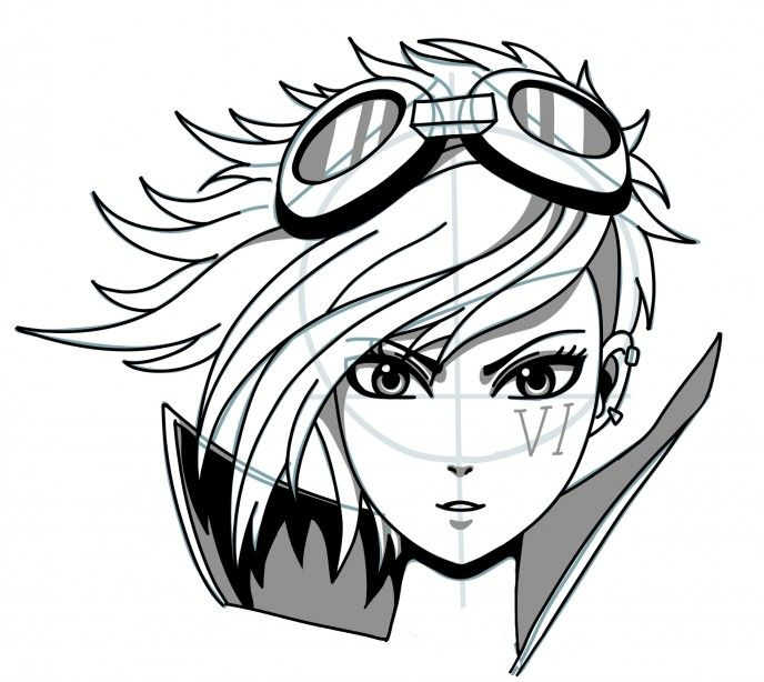 How to draw manga: Vi Enforcer from League of Legends step ...