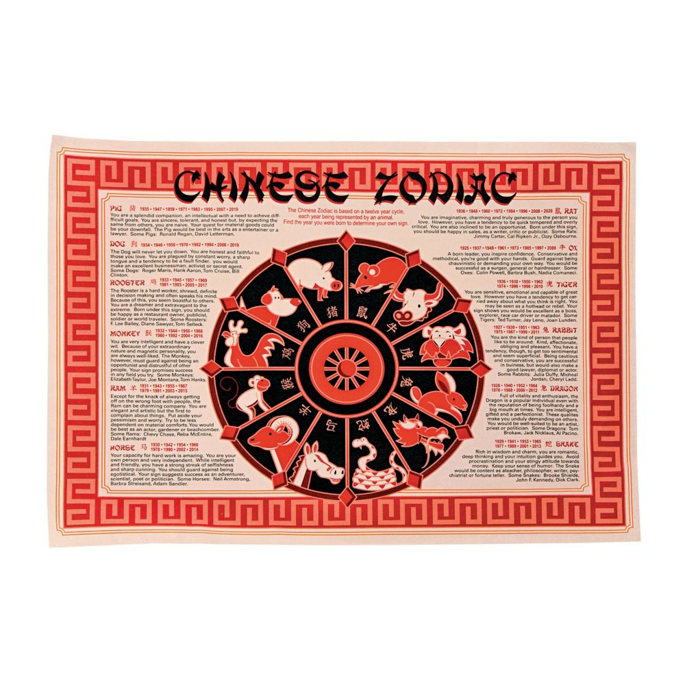 Chinese New Year Placemats Chinese new year party