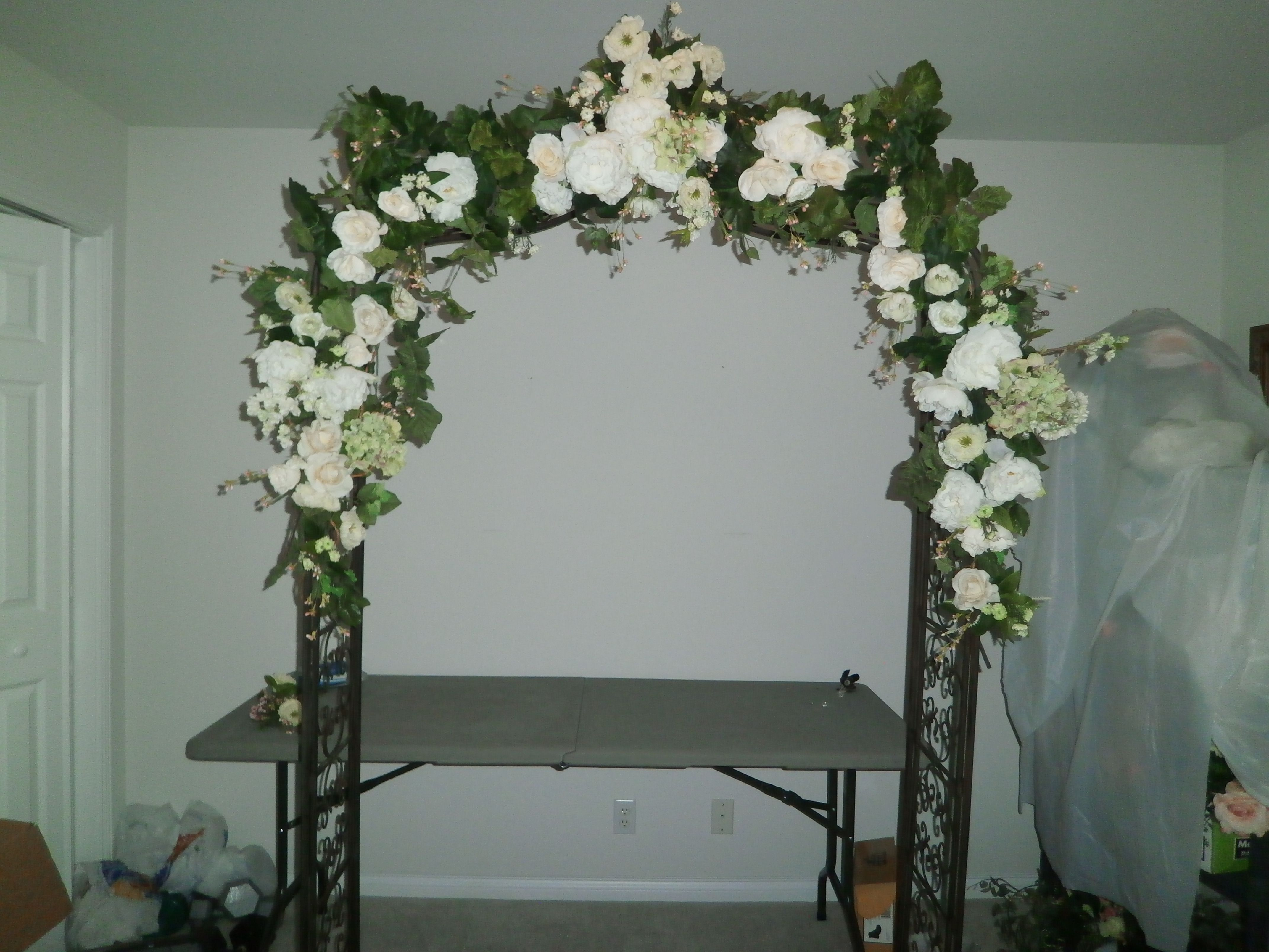 Wedding Arches Hobby Lobby Garden Arch With Multi White Cream Flowers Bought 50 Off