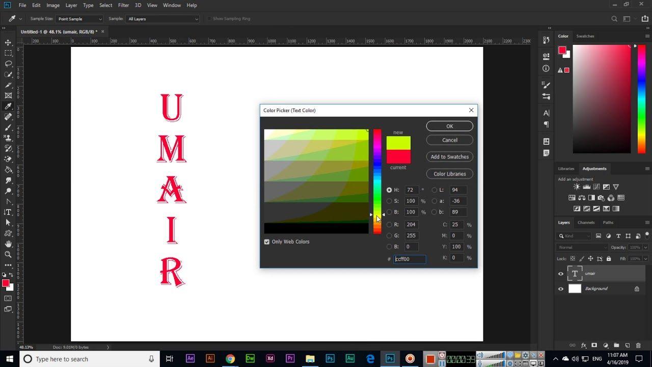 Vertical Type Tool Adobe CC 2019 Adobe